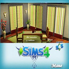 Dining and Curtains at El Taller de Mane via Sims 4 Updates