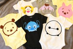 Organic Tsum Tsum Inspired Disney Stitch Baby Clothes by Adorabo Bio Tsum Tsum inspired Disney Stitch baby clothing by Adorabo Baby Outfits, Toddler Outfits, Kids Outfits, Cute Little Baby, Cute Babies, Baby Kids, Tsum Tsum Party, Disney Stich, Cute Baby Clothes