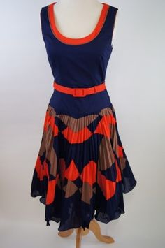 Milly Pleated Scoopneck Dress