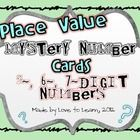 This packet contains 36 Place Value Mystery Number cards, 2 student recording sheets, 1 sheet of individual student assessment tickets, and an ans...