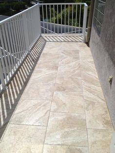 Exterior waterproofed & tiled deck in Apollo Beach, Florida