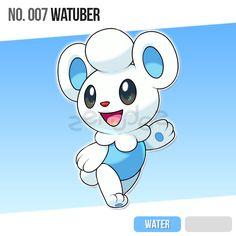 007 Watuber by zerudez on DeviantArt Pokemon Pins, Pokemon Fan Art, My Pokemon, Pokemon Fusion, Pokemon Planet, Cute Cartoon Characters, Cartoon Styles, Pokemon Breeds, Dinosaur Cards