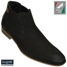 Bugatti férfi bőr bokacsizma 311-10130-3500-1000 fekete
