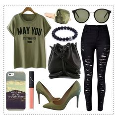 """Bez naslova #332"" by ajna-bih ❤ liked on Polyvore featuring Christian Louboutin, Rebecca Minkoff, Yves Saint Laurent, Casetify, NARS Cosmetics and Pomellato"