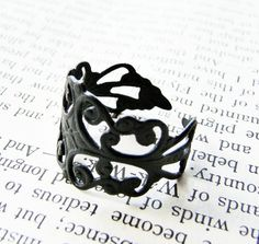 black lace ring