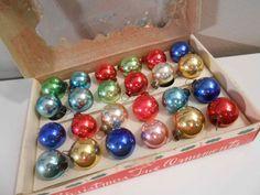 24 Vintage Christmas Ornaments Original Box