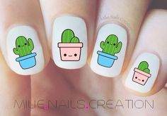 Nail Design Spring Nails Cactus nail short nails that are good for summer are also ok ~! Pedicure Designs, Gel Designs, Nail Art Designs, Cute Nails, Pretty Nails, Nail Selection, Stickers Kawaii, Nail Design Spring, Beauty Blogs