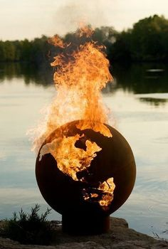 Earth Globe Fire Pit. Some men just want to watch the world burn.