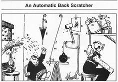Rube Goldberg - An Automatic Back Scratcher