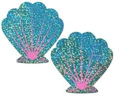 Pastease Mermaid: Liquid Seafoam Green and Pink Seashell Nipple Pasties Mermaid Glitter, Purple Glitter, Theme Mickey, Crazy Costumes, Mermaid Shell, Mermaid Pinata, Olive Oil Cake, Summer Crafts For Kids, Mermaid Birthday