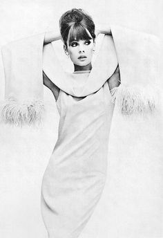 Jean Shrimpton is wearing dress and stole by Malcolm Starr, photo by Penn, Vogue US, Sept. 1963 | Flickr - Photo Sharing!
