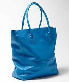 61c5a496f2a Heritage Leather Tote  179 sold out in Glacier Blue