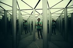 mirror maze entry and there is a way out because I am STRONGER
