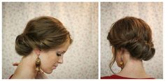 The Freckled Fox - a Hairstyle Blog: Hair Tutorial// The Gibson Tuck