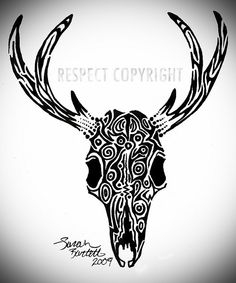 Since the tribal tattoos I did on my hand were apparently pretty popular around here, I took the design idea one step further. Since I'm from the northwest, I chose to make this a mule deer instead of everyone's favorite whitetail. If the left antler download http://TribalTattooDesigns.readytodownload.net