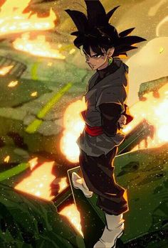 Imagen de dragon ball z, goku, and black goku