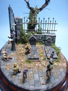 Warhammer Capa Sobre Capa - Peana con cementerio (Terminada) - Obras propias