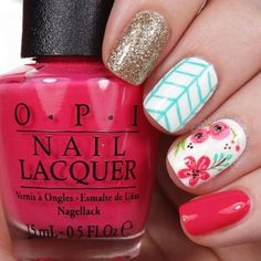 60 Spring Floral Nail Arts Design and Ideas Colors #springnaildesigns