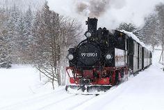 #Preßnitztalbahn #Dampflok #Erzgebirge #winter