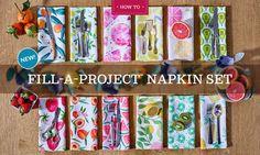 Fill-A-Project Napkin Set | Spoonflower Blog