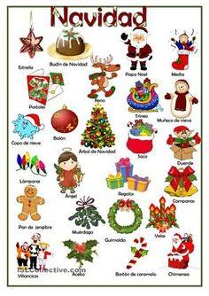 Spanish#Christmas#Vocabulary#learn#lesson#onlineTuition#Language4lifeSchoolBlackpool : https://es.islcollective.com/resources/printables/worksheets_doc_docx/navidad/navidad-principiante-prea1/62357