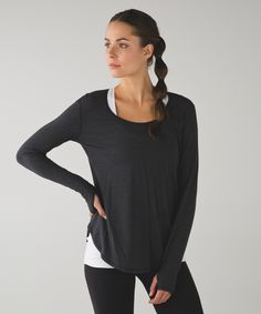Layer this loose-fitting long sleeve over your practice gear and you're good to go for the day.