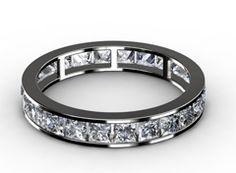 Diamant Ehering Glanz, 750er Weißgold 18 Karat