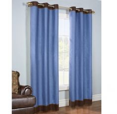 Shop for Lexi Insulated Faux Denim Curtain Panel Pair. Get free delivery On EVERYTHING* Overstock - Your Online Home Decor Outlet Store! Denim Curtains, Cool Curtains, Blue Curtains, Velvet Curtains, Grommet Curtains, Panel Curtains, Curtain Panels, Blackout Curtains, Insulated Curtains