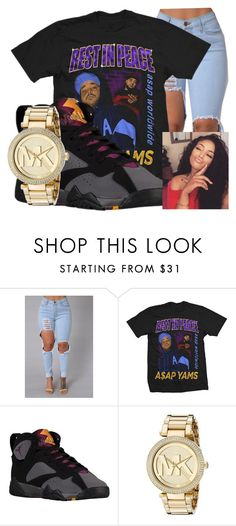 """Untitled #269"" by brooklynnmckenna ❤ liked on Polyvore featuring Retrò and Michael Kors"