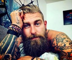 Viking Beard Tips and Styles (Part 2 of Like the hairstyle, the Viking beard styles have become a great distinction of the Vikings. In the last writing (Viking Beard Tips and Styles Part BaviPower has shared some tips… Continue Reading → Viking Beard Styles, Beard Styles For Men, Hair And Beard Styles, Beards And Mustaches, Moustaches, Perfect Beard, Beard Love, Perfect Man, Great Beards
