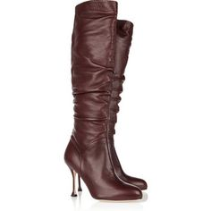 Brian Atwood Josie ruched leather knee boots
