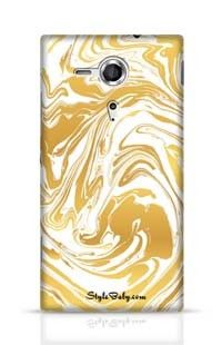 Hand Drawn Marbling Illustration Gold 3 Sony Xperia SP Phone Case