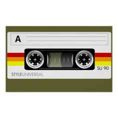 Cassette tape label poster