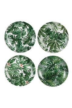 Set of four different leave design plates by Amsterdam design studio &Klevering  Delicate dishwasher safe Porcelain Come in a deluxe giftbox