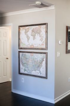 How to make a push-pin travel map and gallery wall on a budget (less than $20!) with minimal DIY needed. Easy and fast! – HelloRedhead | Atlanta Travel & Lifestyle Blog #pushpinmap