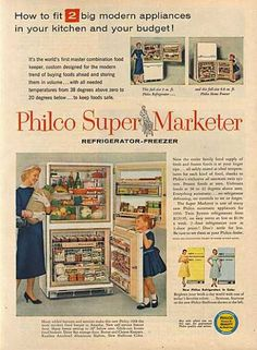 admiral u0027s philco super marketer     how to fit 2 big modern appliances in your kitchen admiral  1951    admiral  appliances   pinterest   search  rh   pinterest com