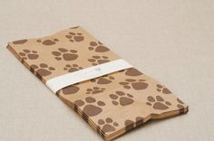 doggie bags  kraft paper bags with dog paw print by recipient, $7.00