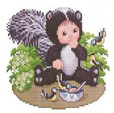 Skunk Baby Cross Stitch Pattern