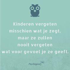 Je kan in de opvoeding nog zoveel zeggen of proberen mee te geven. Maar het gevoel dat jij je kind geeft is het allerbelangrijkste! Dit is de basis van hun zelfvertrouwen! #positief opvoeden #zelfvertrouwen #kinderen #opvoeding #leerkracht