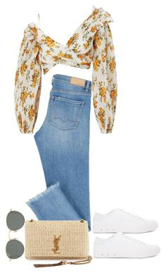 """Untitled #5651"" by theeuropeancloset ❤ liked on Polyvore featuring Zimmermann, Ray-Ban, rag & bone and Yves Saint Laurent"