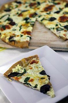 I love love LOVE white pizza.