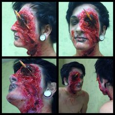 Halloween make up I just did :) :)