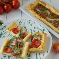 Caprese Tarts using frozen puff pastry for a quick, easy warm appetizer.