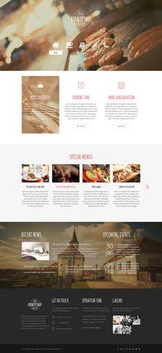 Royalty Shop - Restaurant PSD Template #web design #flat #food • Download ➝ https://themeforest.net/item/royalty-shop-restaurant-psd-template/6745668?ref=pxcr
