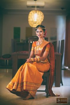 Indian Bridal Saree Look You Have To Steal – Designers Outfits Collection Indian Bridal Sarees, South Indian Sarees, Bridal Silk Saree, South Indian Bride, Saree Wedding, Kerala Bride, Wedding Poses, Wedding Bride, Indian Dresses