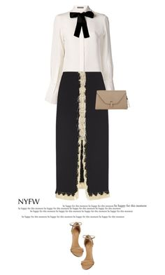"""""""NYFW Day One #3"""" by anja-173 ❤ liked on Polyvore featuring Alexander McQueen, Lanvin, Valextra, Giuseppe Zanotti and NYFW"""