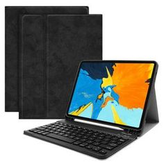With Pencil Holder Tablet Case Set Fashion Bluetooth Keyboard for iPad Mini 4 5 Ipad Mini, Ipad Stand, Tablet Stand, Ipad Pro, Slot, Iphone 6, Android, Usb, Bluetooth Keyboard