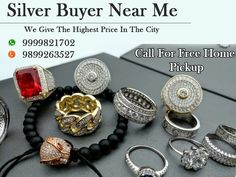 Sell your silver for cash now in Delhi, We are here to buy all kind silver like old, scrap, broken, etc. We also provide free home pickup service. Call us on 9999333245.