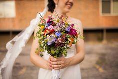 Lizzy + Joel | Wildflower bridal bouquet by @AuroraFloraOH  | Tyler Scott Photography