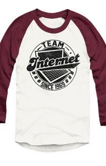 #TeamInternet Raglan (Truffle) T-Shirt - Tyler Oakley T-Shirts - Official Online Store on District Lines